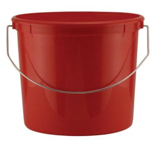 Leaktite 5-qt. Red Plastic Bucket with Steel Handle (24-Pack)