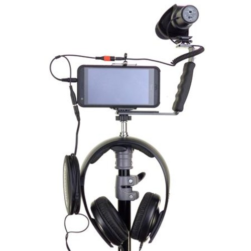 Alzo Digital Streaming Video Rig with Mic Headphone Breakout Cord for Smartphone