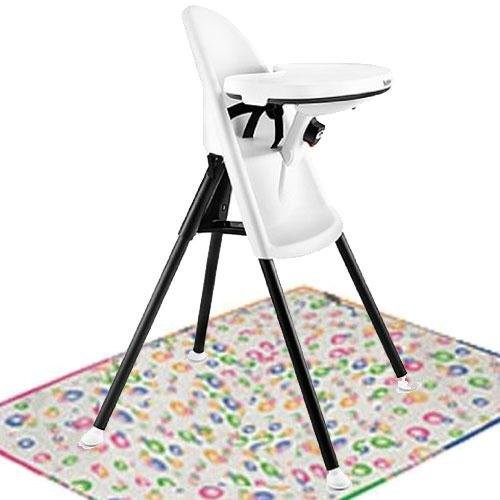 Baby Bjorn High Chair with Splat Mat- White