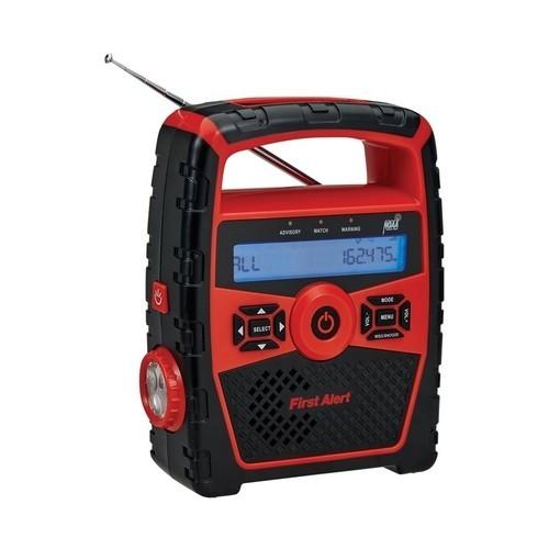 First Alert - Weather Alert Radio - Black/Red