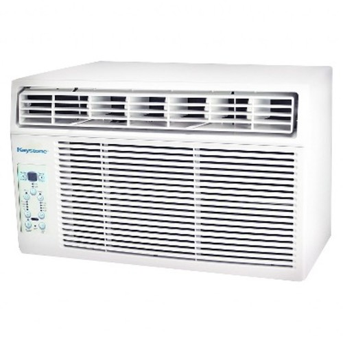 Keystone - 12000-BTU 115V Window-Mounted Air Conditioner with