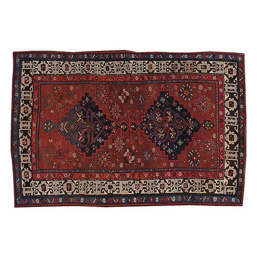 Antique Caucasian Rug, 4'2