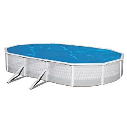 Blue Wave 16-Feet x 32-Feet Oval 8-mil Solar Blanket for Above Ground Pools, Blue [16 by 32-Feet]