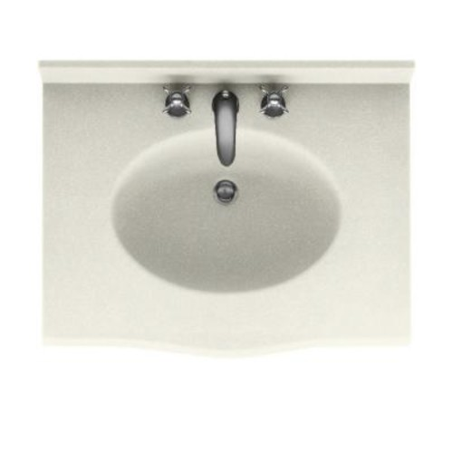 Swanstone Europa 25 in. W x 22.5 in. D Solid Surface Vanity Top with Sink in Bisque