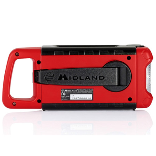 Midland - Weather Alert Radio - Red, Black