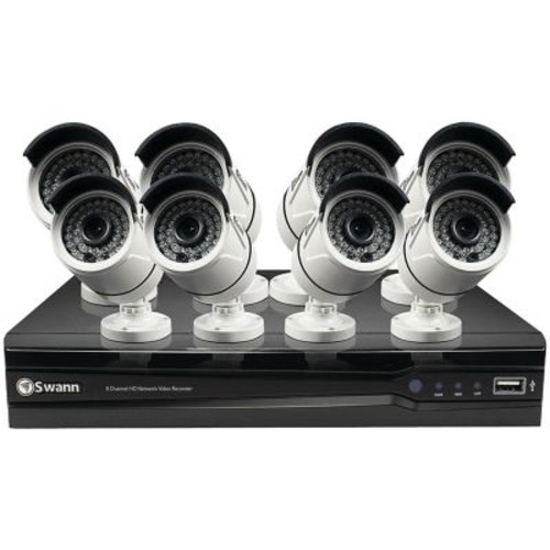 Swann Swnvk-874008-us 8-channel 1080p Nvr With 8 NHD -818 Cameras