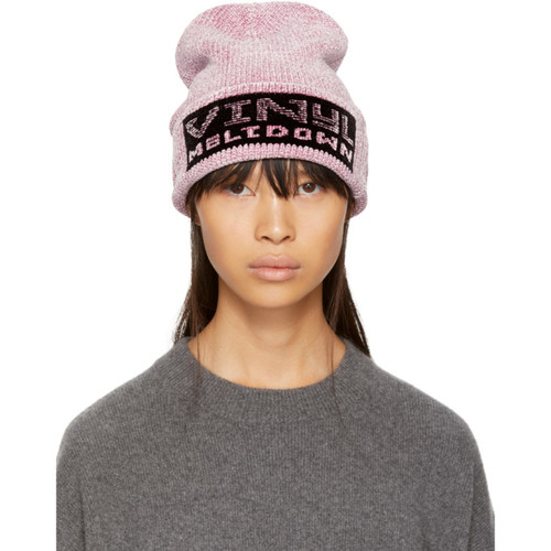 ALEXANDER WANG Purple 'Vinyl Meltdown' Beanie