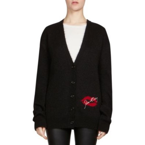 SAINT LAURENT Slow Kissing Mohair Cardigan