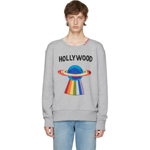 GUCCI Grey 'Hollywood' Saturn Sweatshirt