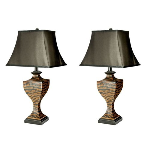 Safavieh Indoor 1-light Zebra Table Lamps (Set of 2)