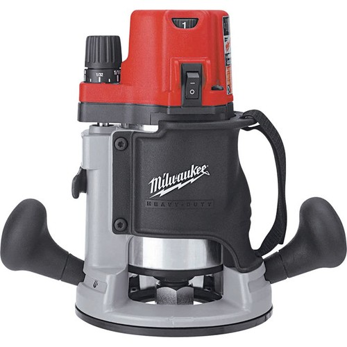Milwaukee 2 1/4 HP Router  Electronic Variable Speed BodyGrip,