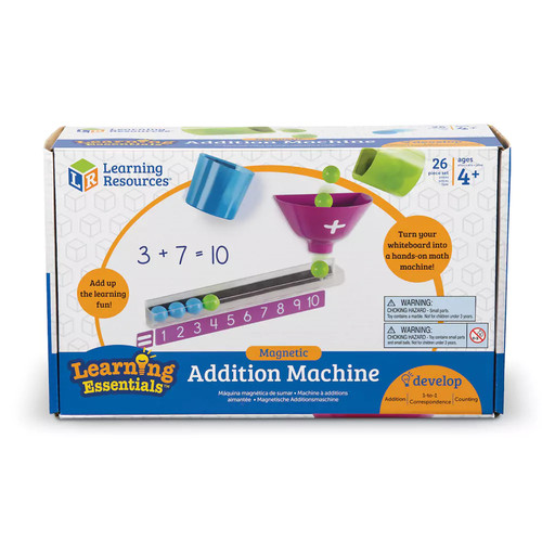 Learning Resources Magnetic Addition Machine - 26 Piece