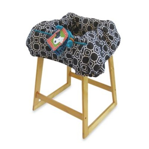 Boppy Shopping Cart Cover in City Squares Black/White