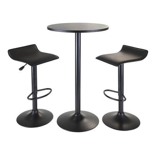 Winsome Obsidian 3-pc. Pub Table Set