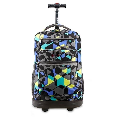 J World New York Sundance Rolling Backpack, Cubes