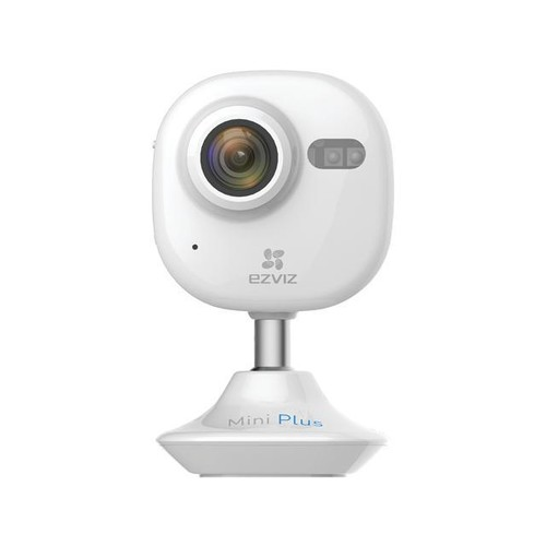 EZVIZ Mini Plus HD 1080p Wi-Fi Home Security Camera with Motion Detection, 135 degree View, Night Vision, 2 Way Audio, Works with Alexa and Google Home Using IFTTT (White)