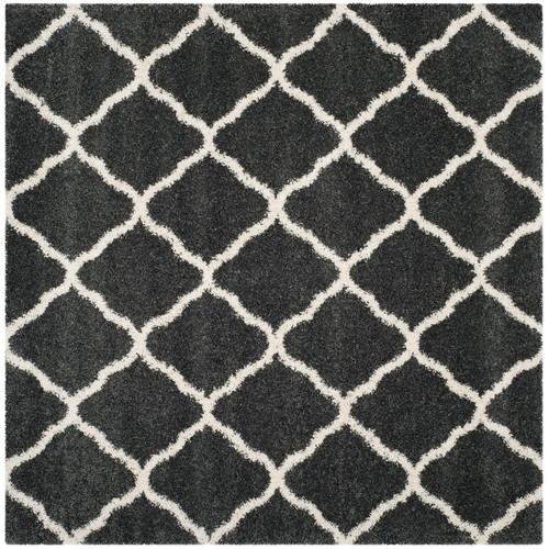 Safavieh Hudson Shag Dark Gray/Ivory 7 ft. x 7 ft. Square Area Rug