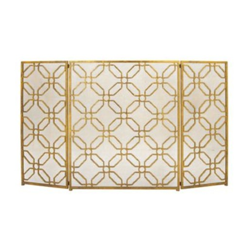 Cole & Grey 3 Panel Metal Fireplace Screen