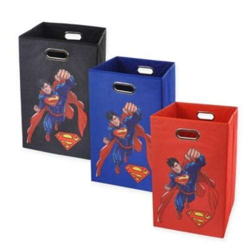 Modern Littles Superman Graphic Folding Laundry Basket