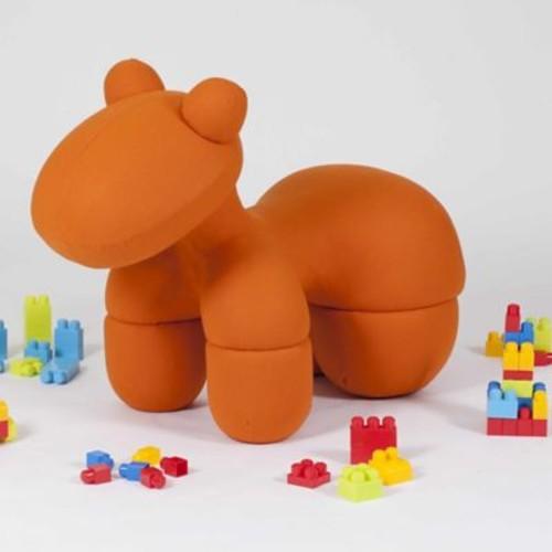 Pangea Home Toto Kids Novelty Chair; Orange