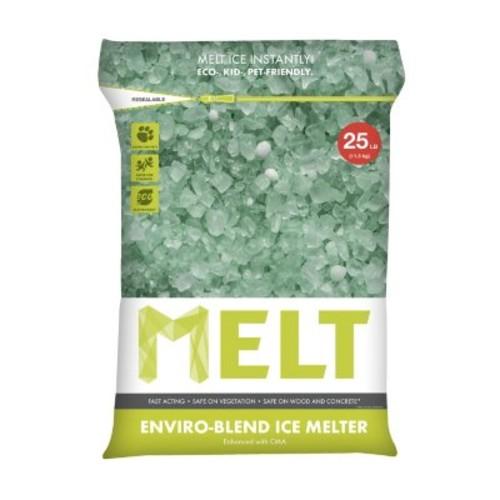 MELT 25 lb. Premium Enviro Blend Ice Melter w/CMA Pallet (Pallet of 100 bags)