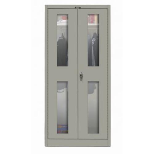 Hallowell 400 Series 72''H x 36''W x 18''D Armoire Storage Cabinet; Hallowell Gray