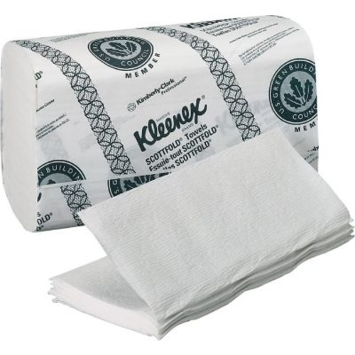 Kimberly-Clark Kleenex Scottfold / Multi Folded Paper Towel, Unscented, White, 3,000 / Case