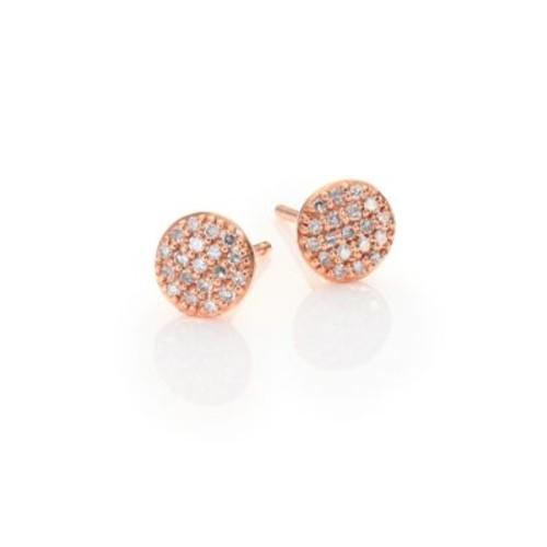 Affair Infinity Micro Diamond & 14K Rose Gold Stud Earrings