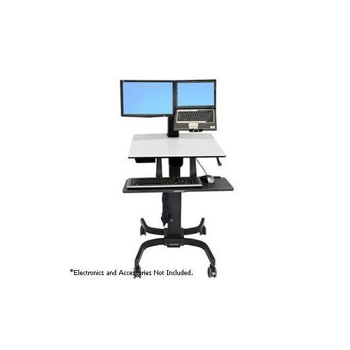 Ergotron WorkFit-C Dual Sit-Stand Workstation -Computer Cart, Height-adjustable - 24-214-085