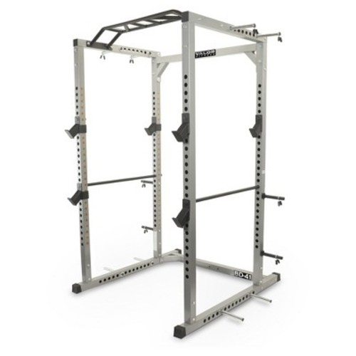 Valor Fitness BD-41 Heavy Duty Power Cage with Band Pegs and Multi-Grip Chin-Up