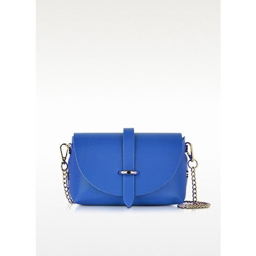 Caviar Small Blue Leather Shoulder Bag