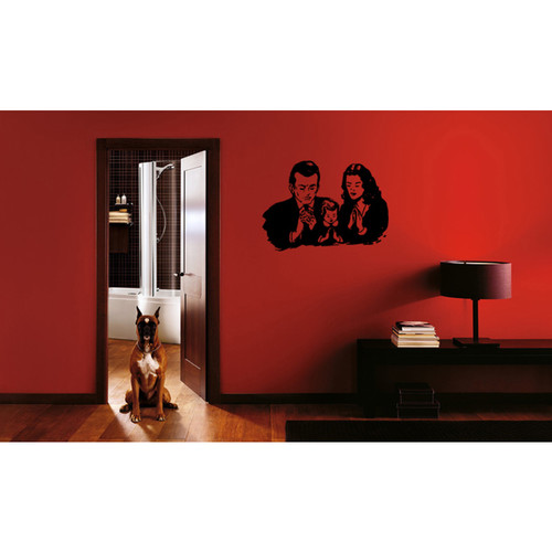 Family and faith in God Wall Art Sticker Decal