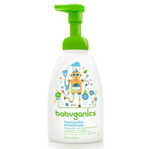 Babyganics 16 oz. Fragrance-Free Foaming Dish & Bottle Soap