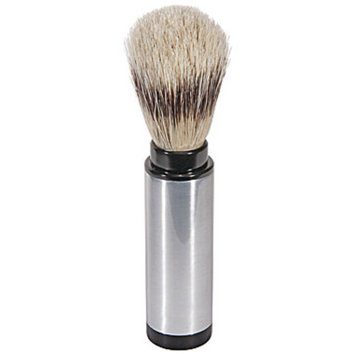Naturally by Kingsley Chrome Travel Shaving Brush