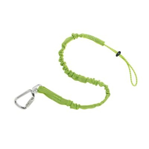 Ergodyne Squids Standard Triple Locking Single Carabiner, 15 lbs., Lime