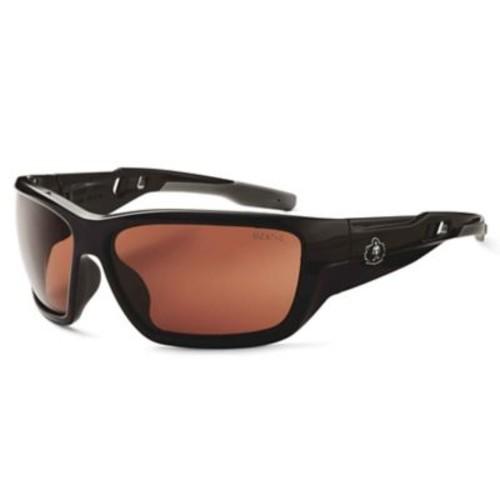Skullerz BALDR Safety Glasses, Copper Lens, Black (57020)