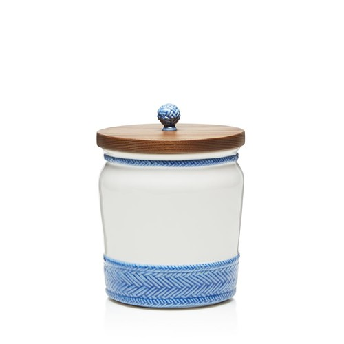 Le Panier Canister with Wooden Lid, 7.5