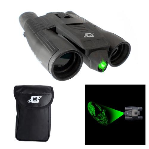 Cassini 10x 32mm Green Lawer Day/Night Binoculars with Case