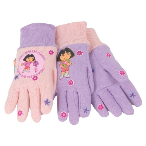 Midwest Dora the Explorer Pink Universal Youth Jersey Cotton Gloves(6 Pack)(DE102T)