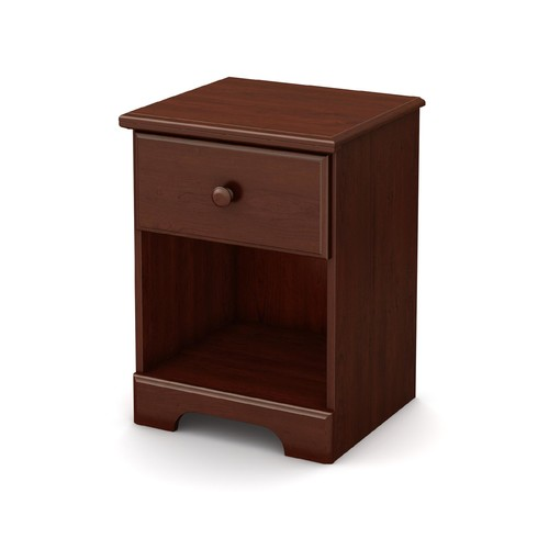 South Shore Summer Breeze 1-Drawer Night Stand, Royal Cherry