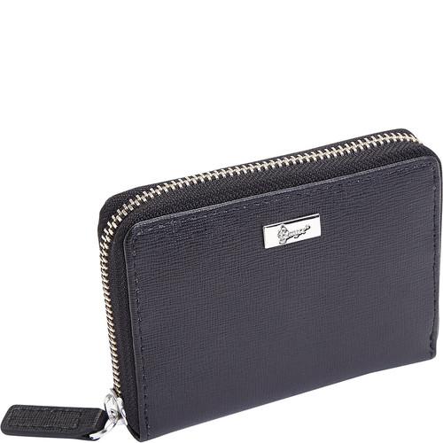 Royce Leather RFID Blocking Mini Fan Wallet in Saffiano Leather