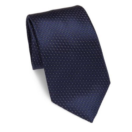 ERMENEGILDO ZEGNA Triangle Patterned Silk Tie