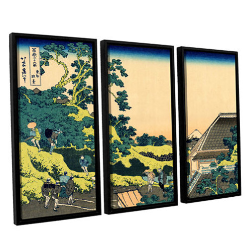 Brushstone The Fuji Seen From The Mishima Pass 3-pc. Floater Framed Canvas Wall Art