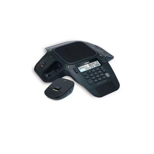 VTech ErisStation Conference Phone - Caller ID, DECT 6.0, Full Duplex, Backlit Display, PBX/PSTN, DNR, Indicator, Eco Mode, Black - VT-VCS704