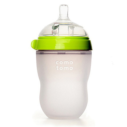 Comotomo 8-Ounce Baby Bottle in Green