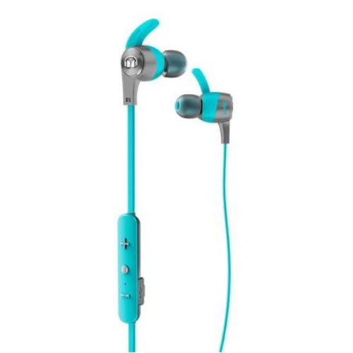 Monster Cable iSport Achieve In-Ear Bluetooth Wireless Headphones, Mic, Blue