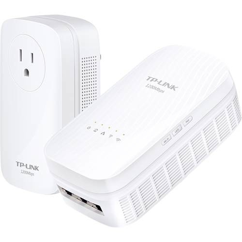 TP-LINK - Wireless AC1750 Whole Home Wi-Fi System + AV1200 Powerline Adapter Kit - white