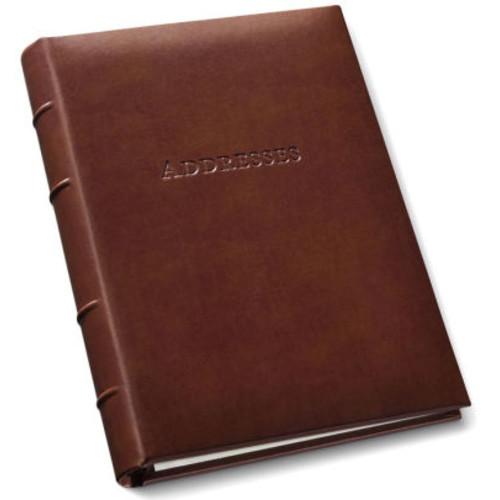 British Tan Bonded Leather Address Book 9