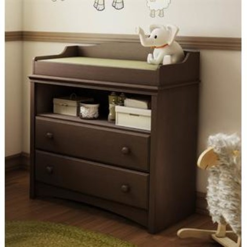 South Shore Traditional Changing Table in Espresso