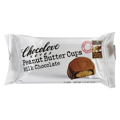Chocolove - Peanut Butter Cups Milk Chocolate - 1.2 oz.